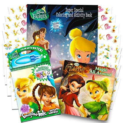 Disney Fairies Tinkerbell Coloring Book Super Set Pack Of 3 Books With Stickers