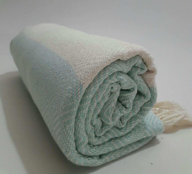 Paramus Turkish Cotton Bath Beach Spa Hammam Yoga Gym Yacht Hamam Towel Wrap Pareo Fouta Throw Peshtemal Pestemal Sheet Blanket by (aqua)