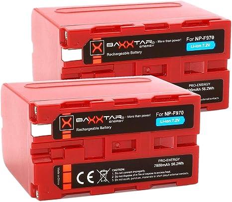 2X BAXXTAR PRO echte 3000mAh Ersatz f/ür Akku Sony NP-F550