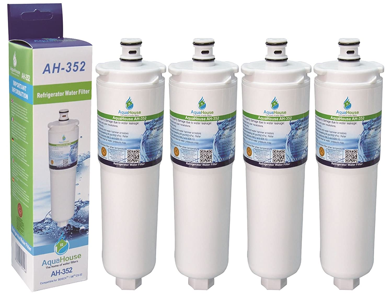 4x ah-352 si adatta Abode Safelock aquafier ACQUA FILTRO CARTUCCIA CS-52 AT2002 RUBINETTO