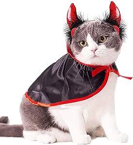 WOVELOT Disfraz de Gato Trajes de Navidad para Mascotas