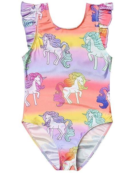 Amazon.com: Jxstar Trajes de baño para niñas, unicornio ...