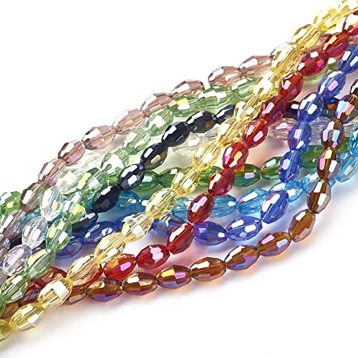 4mm Various Colours Available 300 x Round Electroplate Glass Beads
