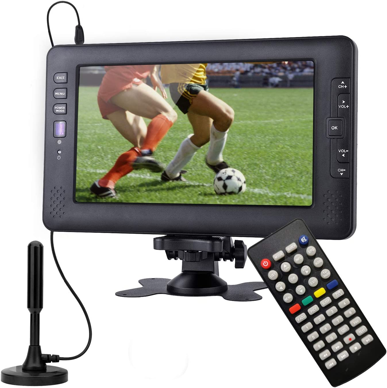 Televisor portátil, sintonizador Digital DVB-T2, con batería Recargable, Suit for Europe Country, Puede Ver el Programa de TV en Interiores o ...