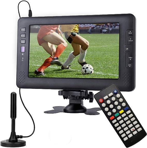 Televisor portátil, sintonizador Digital DVB-T2, con batería Recargable, Suit for Europe Country, Puede Ver el Programa de TV en Interiores o Exteriores: Amazon.es: Electrónica