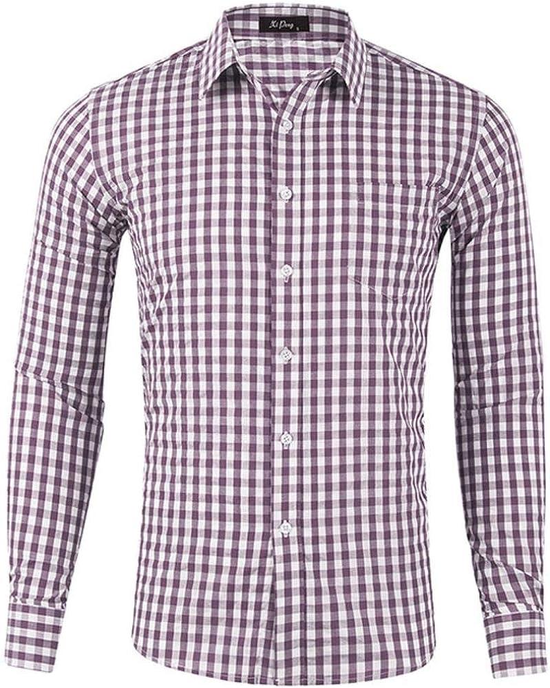 SFYZY Camisa de Manga Larga para Hombre - Algodón de fácil ...