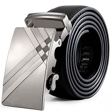 7a429eaa9fd2 Tonsee® Hommes cuir boucle automatique Ceintures Fashion sangle de ceinture  de ceinture ceinture (A)  Amazon.fr  Vêtements et accessoires