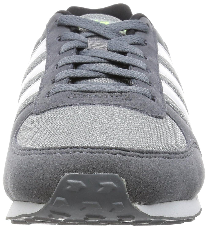 Adidas City Racer, Zapatillas Hombre, Multicolor (Navy/Grey/Lime/White), 44 2/3 EU