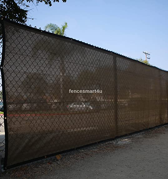 5 X 25 Dark Brown UV Rated 85 Blockage Fence Privacy Screen Windscreen Shade Cover Fabric Mesh Tarp W Grommets 145gsm