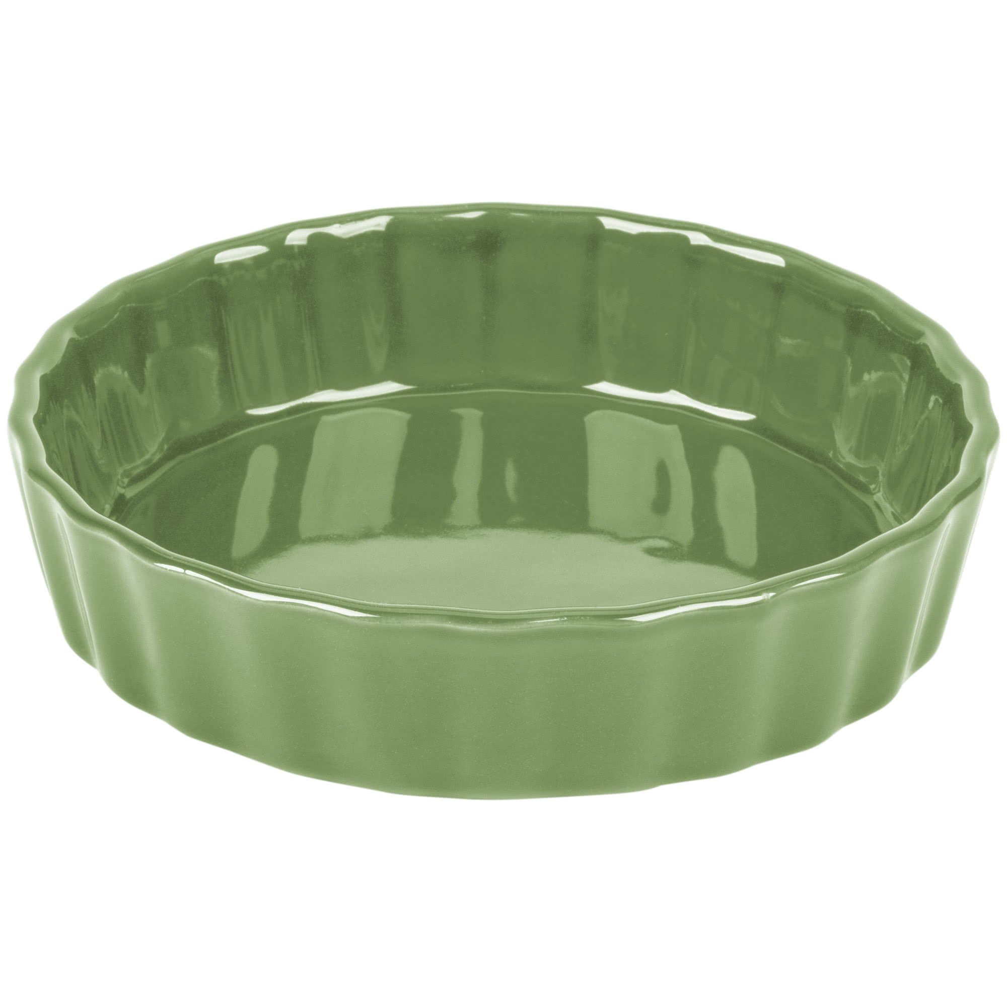 TableTop King QCD-5GRE Festiware Fluted Quiche Dish 5.5 oz. - Green - 24/Case