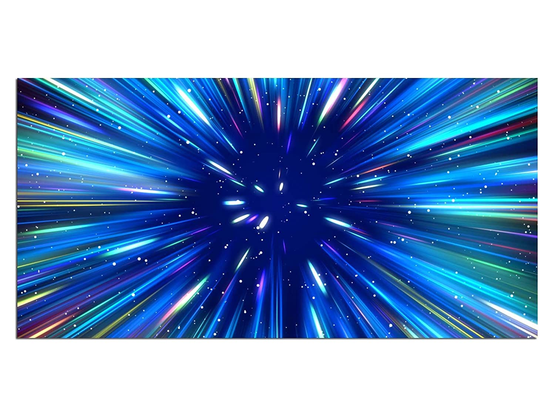 XL Glass print / picture EG4100500571 SUPERNOVA GALAXY BLUE LANDSCAPE Wall art deco 39,37 x 19,69 inches (100 x 50 cm), Deco Glass, Design & Handmade kunst-discounter