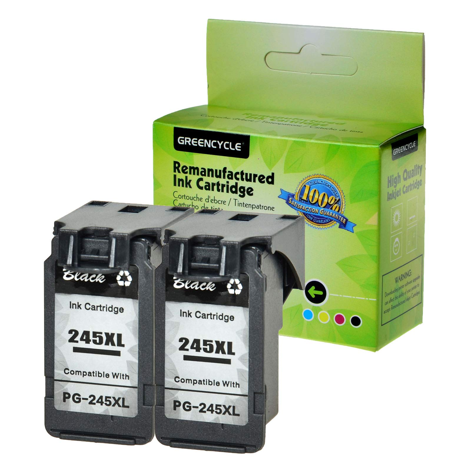 GREENCYCLE Re-Manufactured PG-245XL PG-245 Ink Cartridge