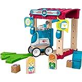 Fisher-Price GFJ14 – Wunder Werker träleksak post spelset av FSC certifierat trä, leksak från 3 år