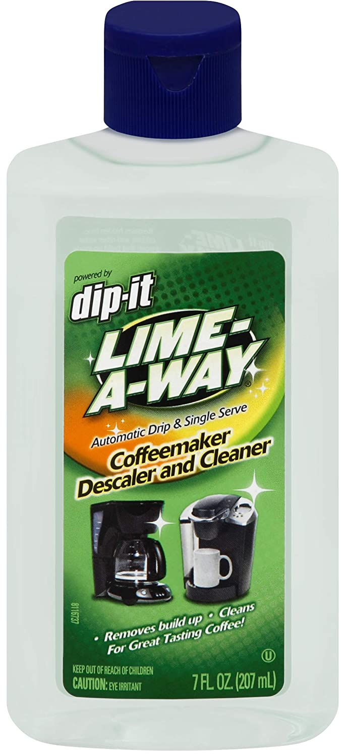 Lime-A-Way Dip-It Coffeemaker Cleaner, Descaler & Cleaner for Drip & Single Serve Coffee Machines 7 oz (Pack of 2)