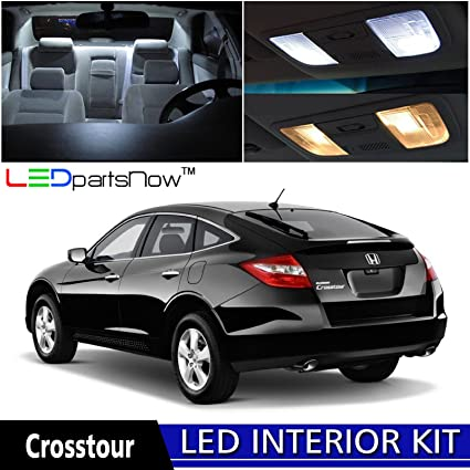 LEDpartsNow 2010 2015 Honda Crosstour LED Interior Lights Accessories  Replacement Package Kit (7 Pieces