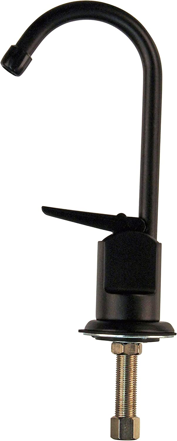 Westbrass R203-NL-62 Touch-Flo Style 6 in. Pure Water Dispenser, Matte Black