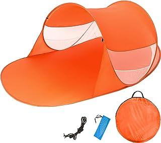 TecTake Tente abri de Plage auvent Pop up Protection UV 245x145x95cm avec Sac de Transport - diverses Couleurs au Choix - 800200
