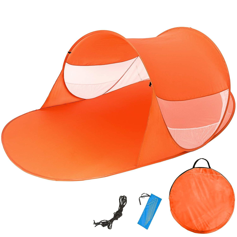 TecTake Tente abri de Plage auvent Pop up Protection UV 245x145x95cm avec Sac de Transport - diverses Couleurs au Choix