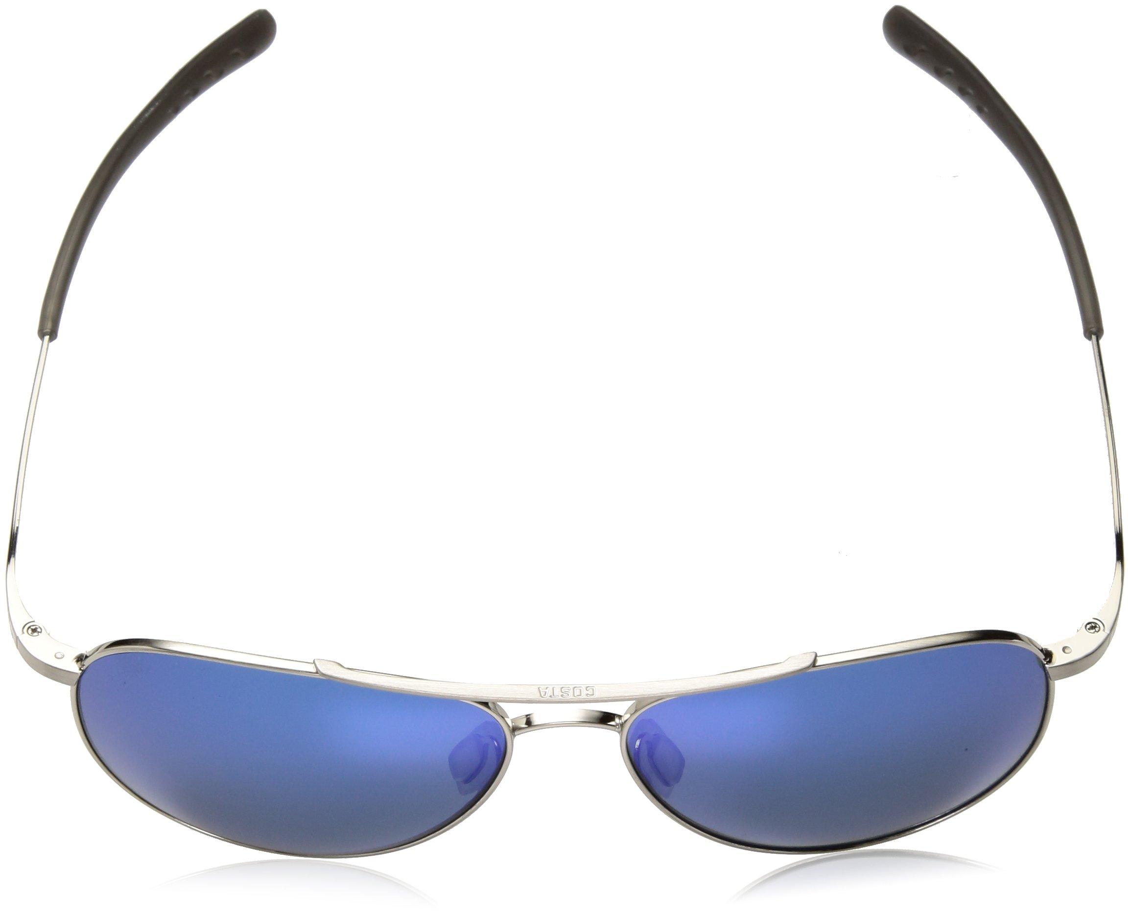 Costa del Mar Cook Polarized Iridium Aviator Sunglasses, Brushed Palladium, 59.7 mm by Costa Del Mar (Image #4)