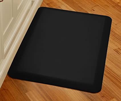 WellnessMats Original Anti Fatigue Kitchen Mat, 36 Inch By 24 Inch, Black