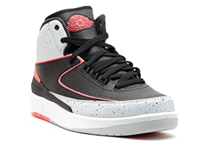 Jordan 2 Retro BG Big Kids Basketball Shoes Black Infrared-Pure  Platinum-White e5a434931