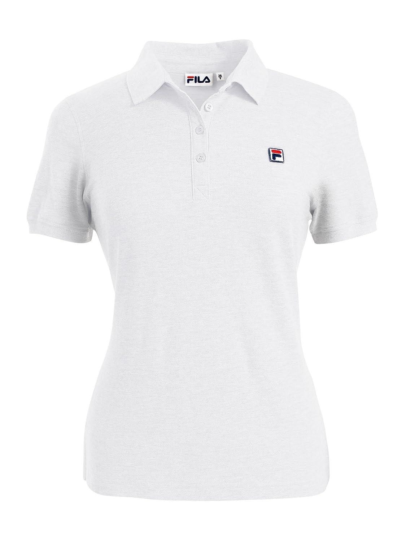 Fila - Camiseta tipo polo para mujer, color blanco, todo el año ...