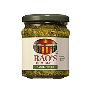 Rao's Homemade Basil Pesto Sauce   6.7 oz   Flavorful Pasta Sauce   Premium Quality   With Cheese, Nuts, Garlic & Olive Oil