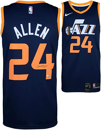0f463e0bb4b Grayson Allen Utah Jazz Autographed Nike Blue Swingman Jersey - Fanatics  Authentic Certified - Autographed NBA