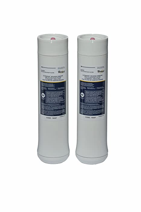Whirlpool WHEERF Reverse Osmosis Replacement Pre/Post Water Filters (Fits Systems WHAROS5, WHAPSRO & WHER25)