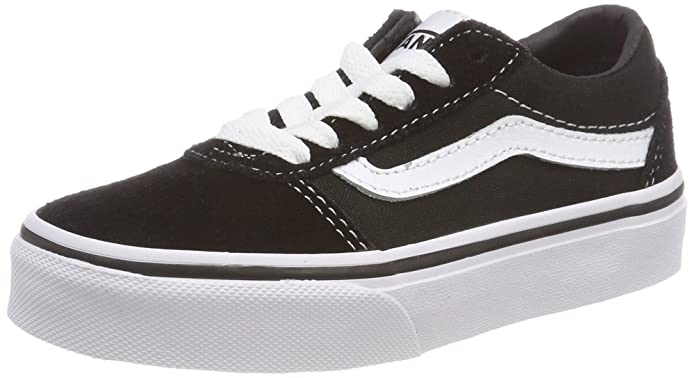 Vans Unisex-Kinder Ward Suede/Canvas Sneakers Schwarz