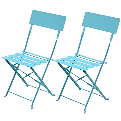 Exceptionnel Outsunny 2 Piece Bistro Set Folding Chairs Balcony Patio Furniture Steel  (Green)