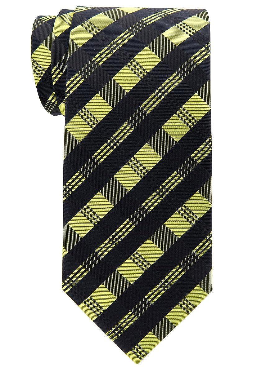 Tartan Check Patterns Woven Mens Tie Necktie w//Pocket Square /& Cufflinks Gift Set