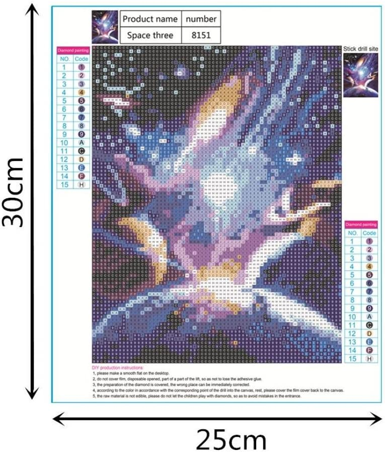D◆Outspace Planet Diy 5D Diamond Painting By Number Kits,Lavany 5D Diamond Paintings Full Drill Crystal Rhinestone Arts Craft for Wall Decor Clearance,Embroidery Cross Stitch Kits