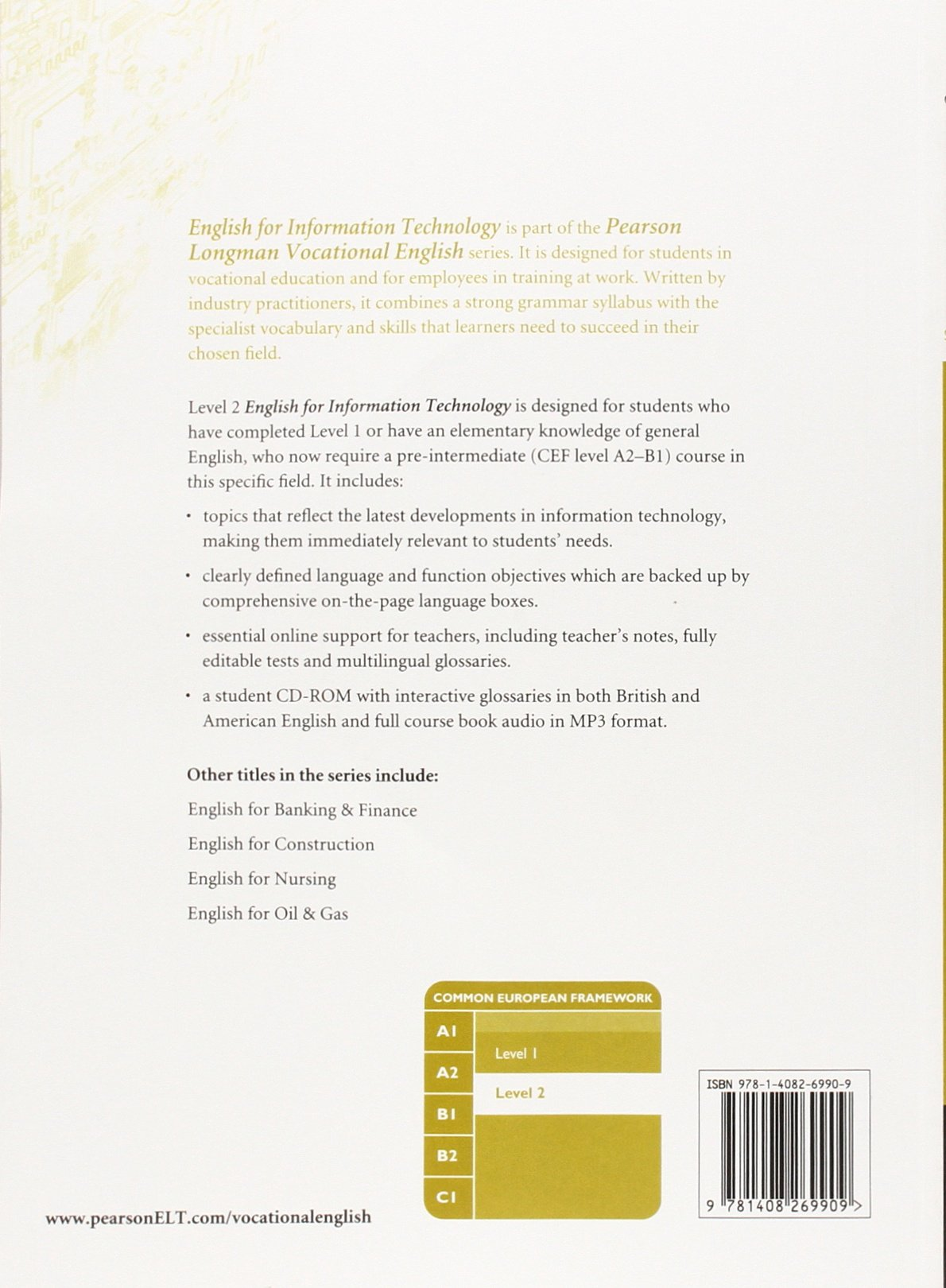 Eng for It Level 2 Cbk/&cdr Pack
