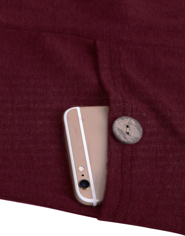 Still-Tunika JOYMOM Still-Sweatshirt Tops lang/ärmelig Lagen