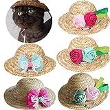 Pet Straw Hat Dog Cat Straw Sombrero Hat Pet