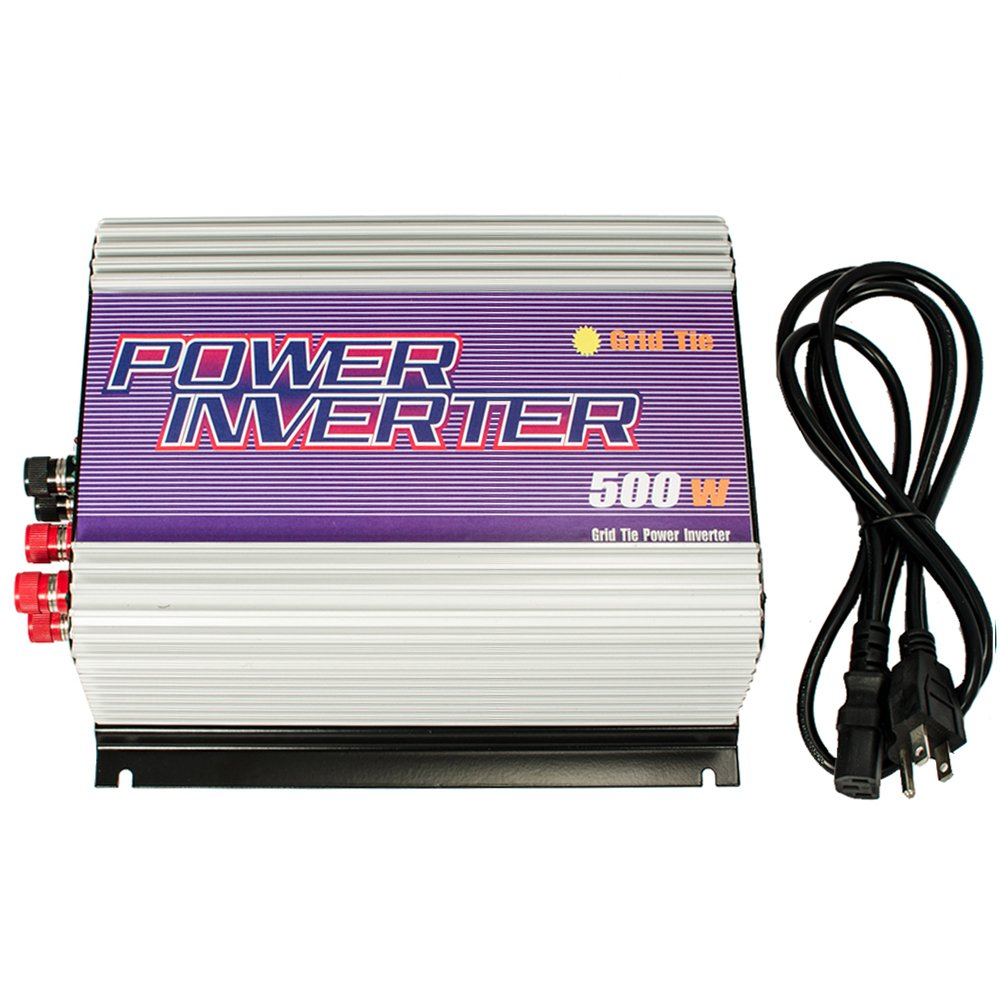 iMeshbean® 500w Gird Tie Inverter MPPT Pure Sine Wave for Solar Panel System DC 22V-60V TO AC 110V/120V USA