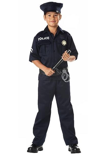 Amazon.com: Disfraz de policía niño – Large 10 – 12: Toys ...