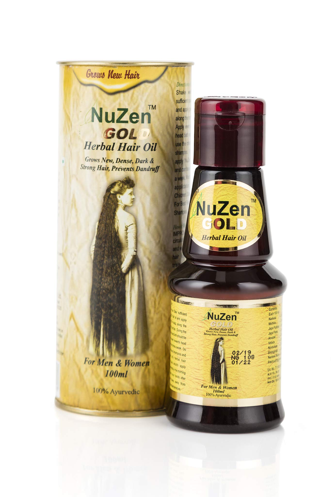 Nuzen Herbal Gold Hair Oil, 100ml