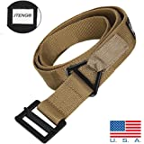 """JTENG Tactical Belt 48"""" Canvas Tactical CQB Military Combat Duty Rescue Rigger Belt Outdoor Waistband Adjustable for Hunting Emergency Rigger Survival"""
