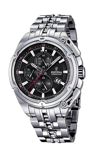 Festina F16881/4 - Reloj de Pulsera Hombre, Acero Inoxidable, Color Plateado: FESTINA: Amazon.es: Relojes