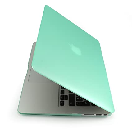 Incutex funda para ordenador portátil para Apple MacBook, rígida verde mate