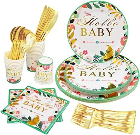 Bridal Shower Dinner Party Supplies Baby Shower Bachelorette Party Birthday Supplies Wedding Supplies Gold Foil Napkins 30 Pack