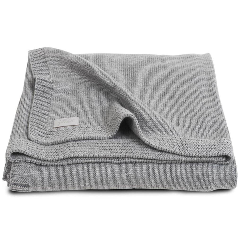 Jollein 516-522-65084 Couverture tricoté e naturelle grise 100 x 150 cm