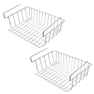 M SANMERSEN Under Shelf Hanging Wire Storage Basket for Kitchen, Pantry, Cabinet - Pack of 2