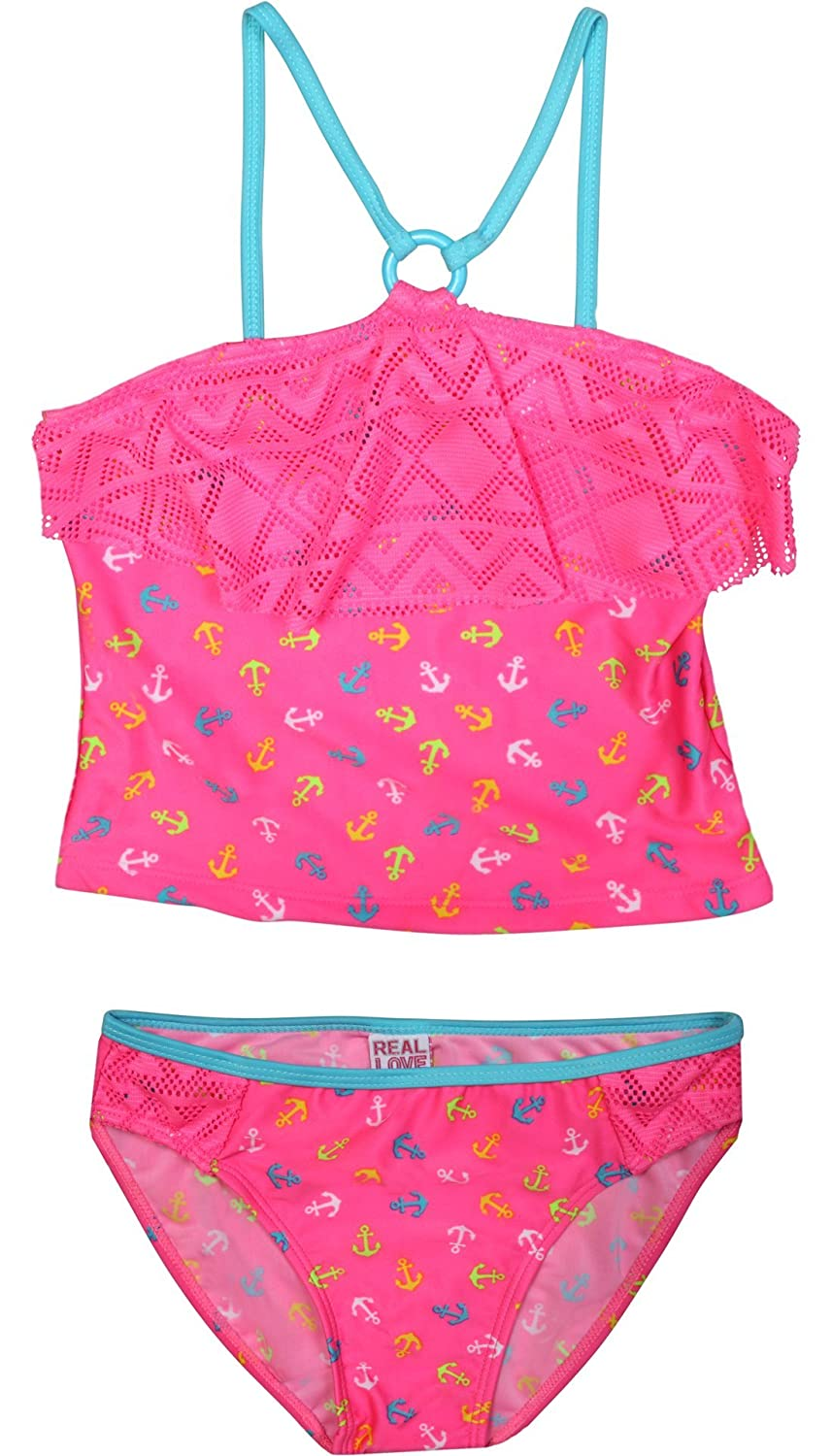 4b4d60762c91 Real Love Girls' Tankini Bathing Suit Separates (2 Pack) [1541592753 ...