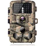 Campark Trail Camera 1080p Waterproof Game Hunting Cam with 3 Infrared Sensors Motion Activated Night Vision for Wildlife Mon
