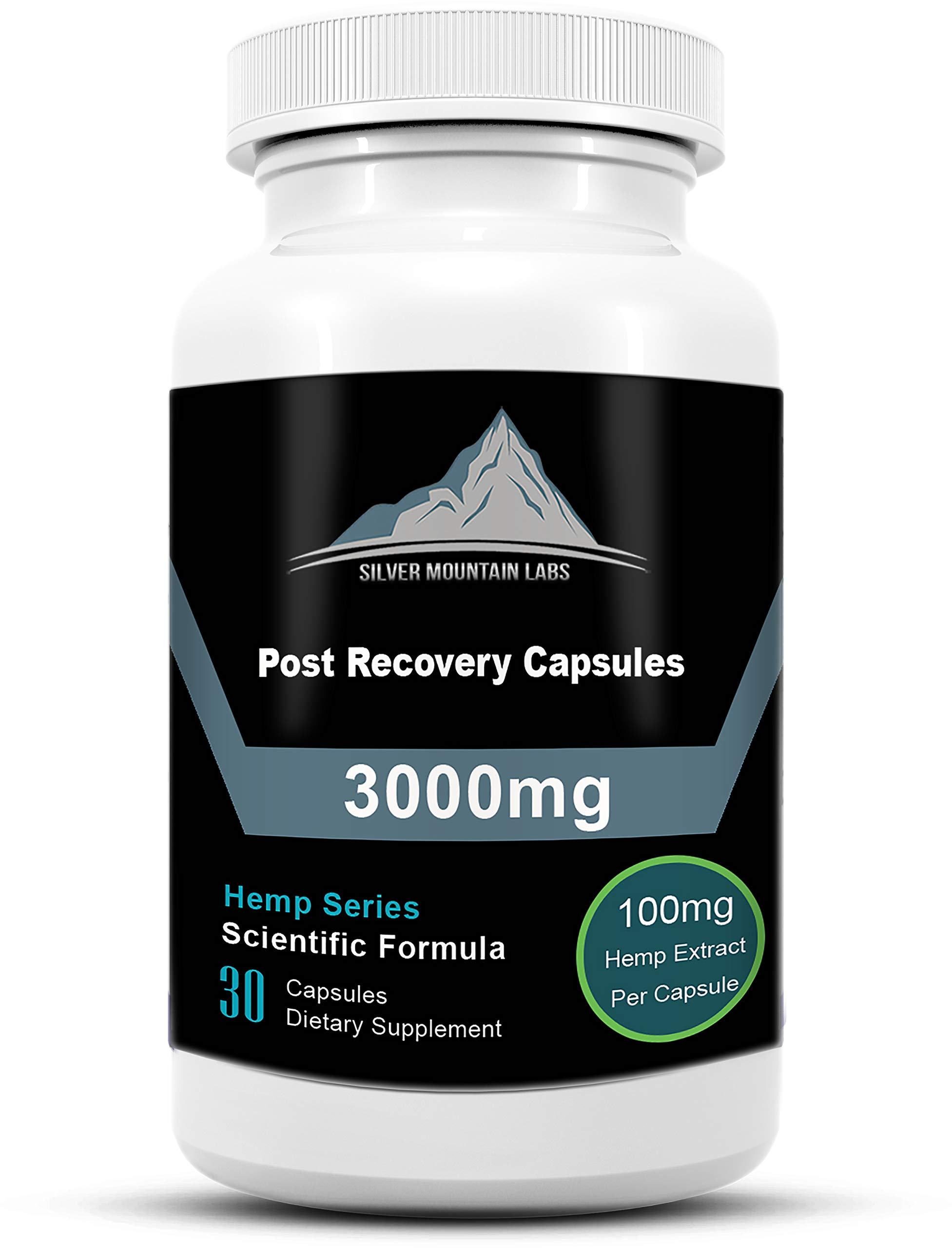 Post Workout Capsules | 100mg Active Hemp Extract Powder |Recovery for Athletes Pain, Inflammation | 100% WADA Compliant | Build Muscle, Improve Recovery and Enhanced Energy Levels 30 Servings