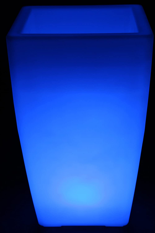 point-garden Blumenkübel LED Farbwechsel 50cm Pflanzkübel beleuchtet Lampe Akku FB
