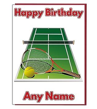 Carte Anniversaire Tennis.Carte D Anniversaire Personnalisee Avec Motif De Court De
